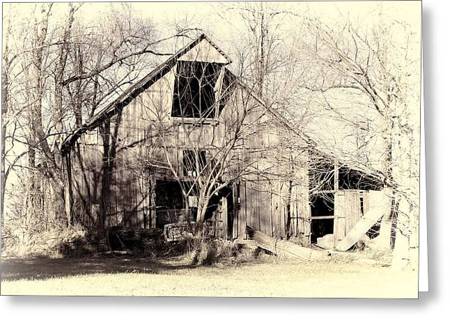 Englewood Greeting Cards - This Old Barn Greeting Card by Cricket Hackmann