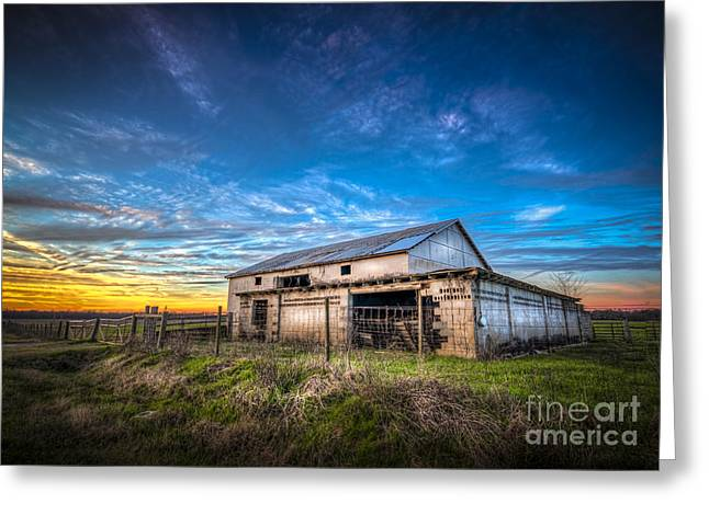 Farmland Greeting Cards - This Old Barn Greeting Card by Marvin Spates
