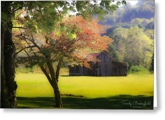 Tennessee Landmark Greeting Cards - This Old Barn Greeting Card by Sandy Baskeyfield