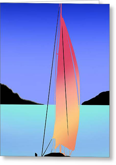 Sailboat Art Greeting Cards - This Old Boat Greeting Card by Peter Stevenson