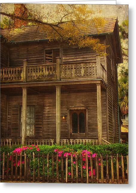 Florida House Greeting Cards - This Old House Greeting Card by Kim Hojnacki
