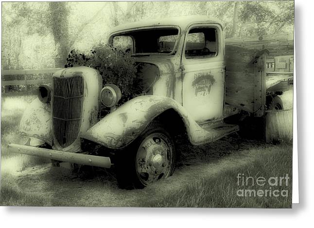 Old Trucks Greeting Cards - This Old Truck Greeting Card by Bob Christopher