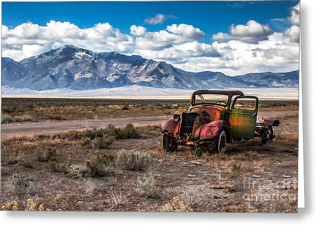 Haybale Greeting Cards - This Old Truck Greeting Card by Robert Bales