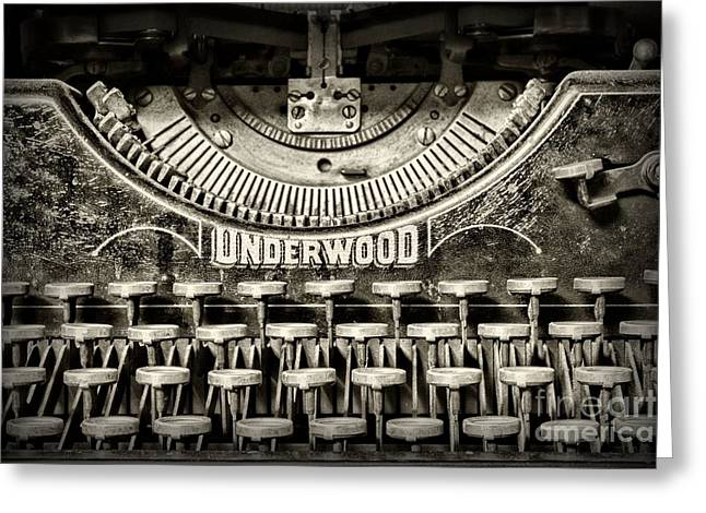 Typewriter Keys Photographs Greeting Cards - This Old Typewriter Greeting Card by Paul Ward