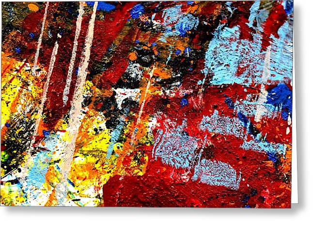 Abstract Art Greeting Cards Greeting Cards - This Painting Has A Life Of Its Own III  Greeting Card by John  Nolan