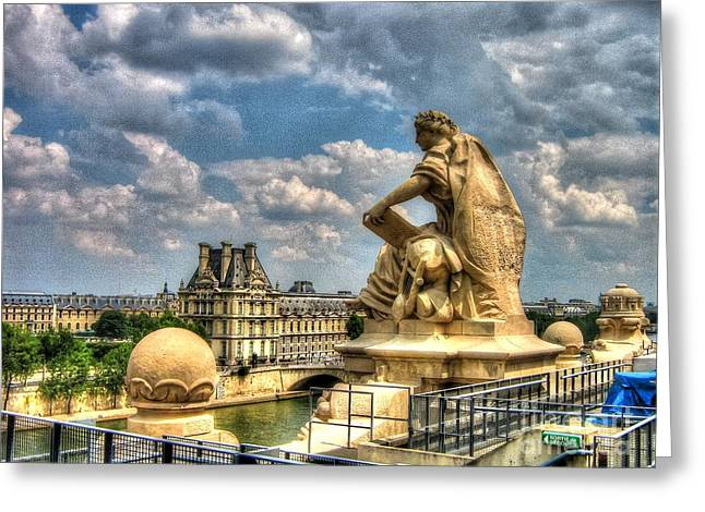 People Pyrography Greeting Cards - This Paris My Dear Greeting Card by Yury Bashkin