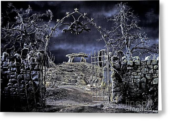 Evil Place Greeting Cards - This path will lead you to an unholy place Greeting Card by David  Zanzinger