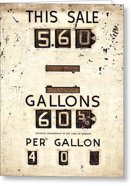 Motor Meter Greeting Cards - This Sale Greeting Card by Martin Bergsma