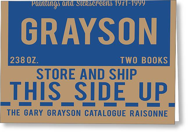Decorative Greeting Cards - This Side Up Greeting Card by Gary Grayson