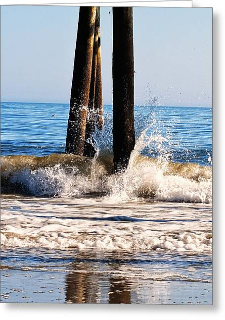 Ocean Images Greeting Cards - This too shall pass waves at Myrtle beach Greeting Card by Chris Flees