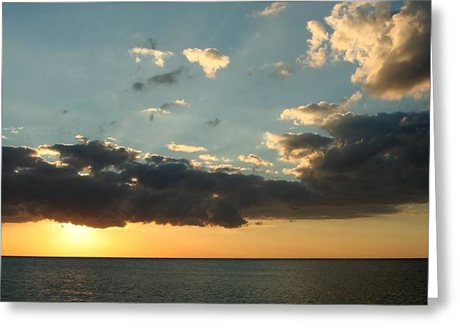 Ocean. Reflection Greeting Cards - This Warm Evening Greeting Card by Laurie Search