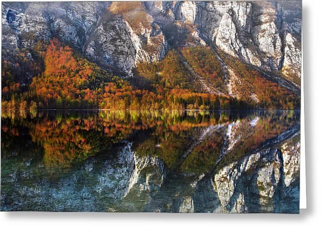 Bohinj Lake Greeting Cards - This way Greeting Card by Graham Hawcroft pixsellpix