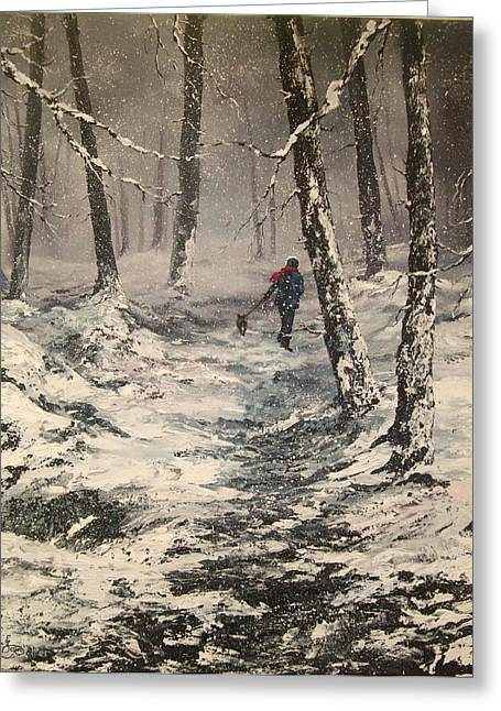 Cannock Chase Greeting Cards - This Way Greeting Card by Jean Walker