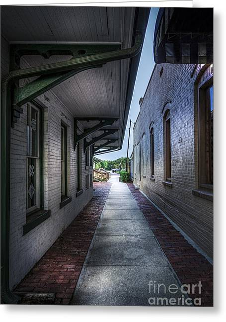 Brick Greeting Cards - This way to the Trains Greeting Card by Marvin Spates