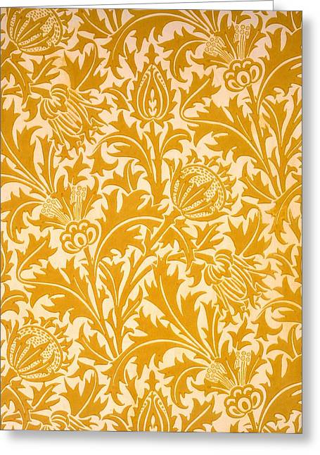 Thistle Greeting Cards - Thistle Wallpaper Design, Late 19th Greeting Card by William Morris