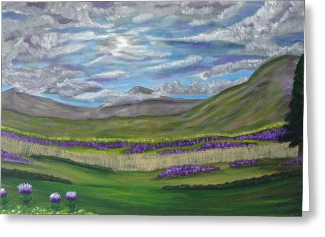 Scott Wilmot Greeting Cards - Thistles and fields Greeting Card by Scott Wilmot