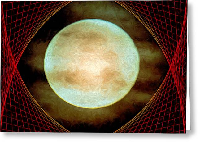 Enterprise Mixed Media Greeting Cards - Tholian Web Greeting Card by John Haldane
