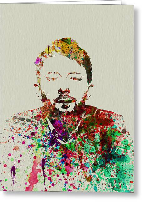 Rock Paintings Greeting Cards - Thom Yorke Greeting Card by Naxart Studio