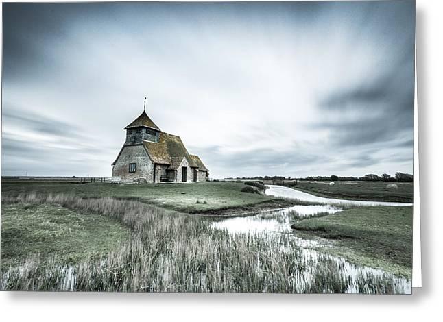 Thomas Greeting Cards - Thomas a Becket Church - Fairfield Greeting Card by Ian Hufton