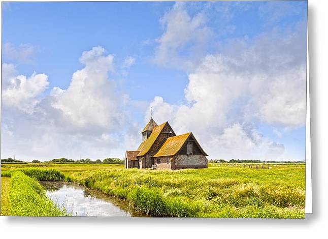 Historic England Greeting Cards - Thomas A Becket Church Romney Marsh Greeting Card by Colin and Linda McKie