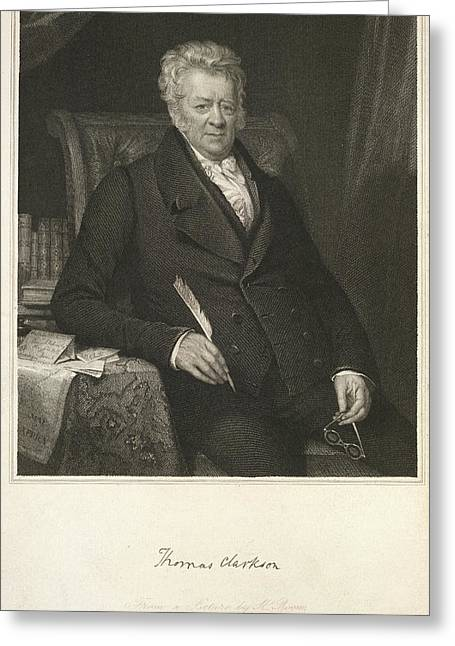 Thomas Clarkson Greeting Card by British Library