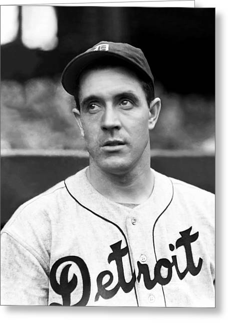 Detroit Tigers Photos Greeting Cards - Thomas E. Tom Seats Greeting Card by Retro Images Archive