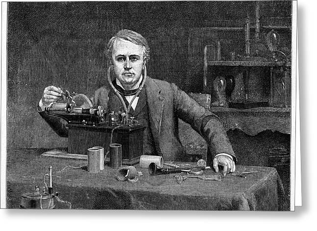 Thomas Edison Greeting Card by Cci Archives