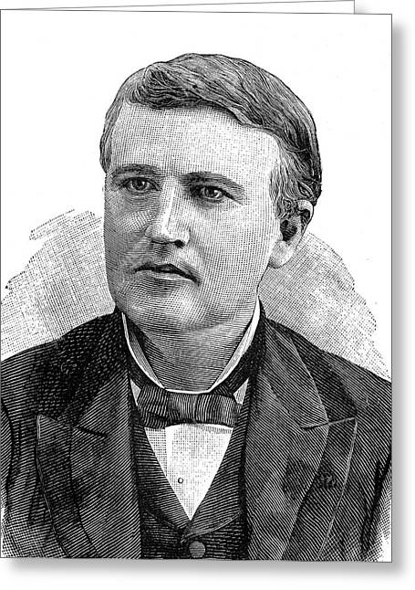 Thomas Edison Greeting Card by Collection Abecasis