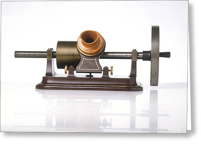 Edison Greeting Cards - Thomas Edisons Phonograph, Replica Greeting Card by Dave King / Dorling Kindersley / Science Museum, London