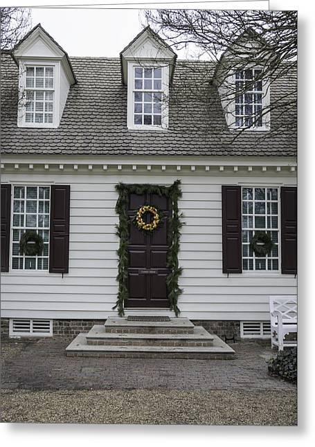 Living History Greeting Cards - Thomas Everard House Williamsburg Greeting Card by Teresa Mucha