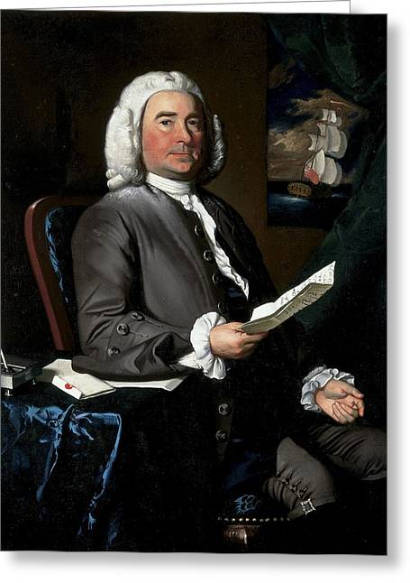 Colonial Greeting Cards - Thomas Greene, 1758 Oil On Canvas Greeting Card by John Singleton Copley