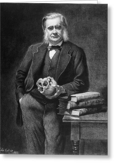 Print Photographs Greeting Cards - Thomas Henry Huxley 1825-95 Etched By Leopold Flameng 1831-1911 1885 Etching Greeting Card by John Collier