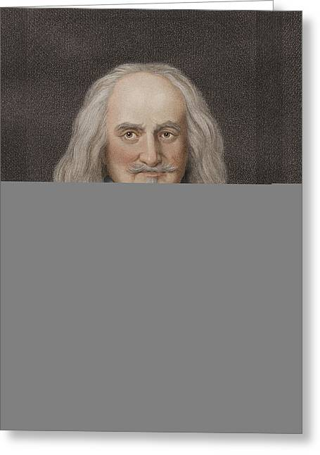 Political-economic Greeting Cards - Thomas Hobbes, English philosopher Greeting Card by Science Photo Library