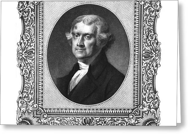 Thomas Jefferson Greeting Card by Aged Pixel