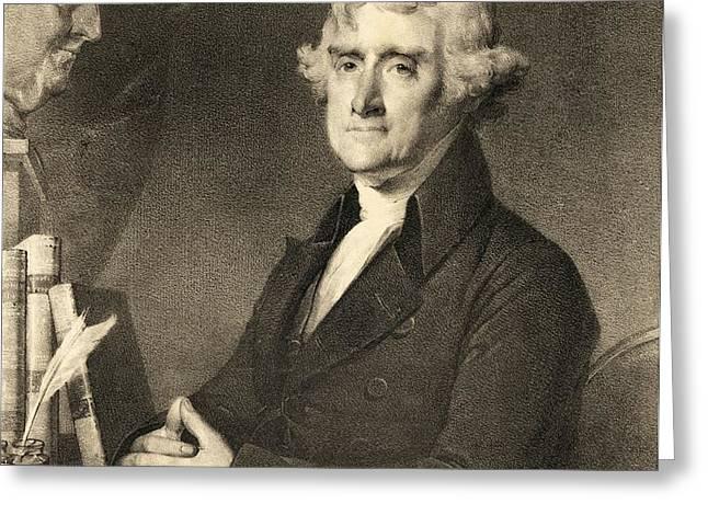 Thomas Jefferson Greeting Card by American School