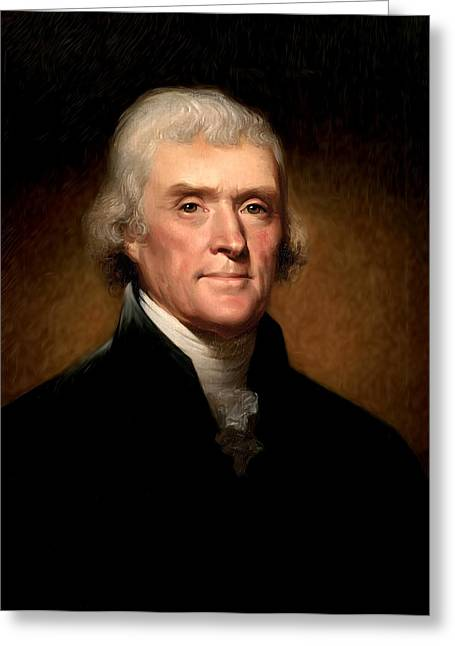 Thomas Jefferson By Rembrandt Peale Greeting Card by Digital Reproductions
