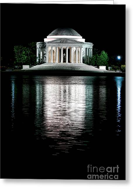 Dome Light Greeting Cards - Thomas Jefferson Forever Greeting Card by Olivier Le Queinec