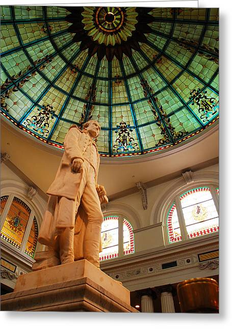 Recently Sold -  - Historic Statue Greeting Cards - Thomas Jefferson Greeting Card by James Kirkikis