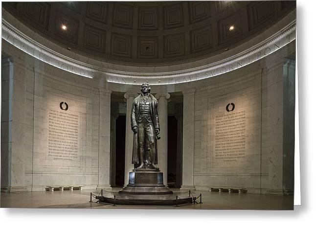 Thomas Jefferson Memorial At Night Greeting Card by Sebastian Musial