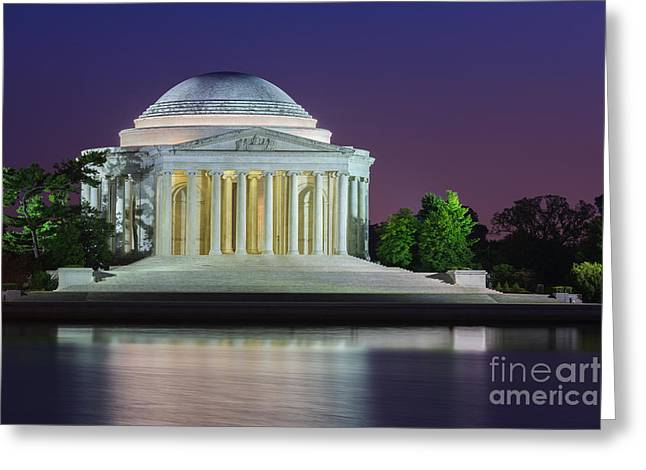 Presidential Photos Greeting Cards - Thomas Jefferson Memorial Greeting Card by Henk Meijer Photography