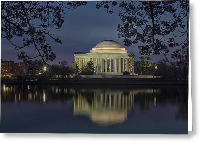 Jefferson Memorial Greeting Cards - Thomas Jefferson Memorial Washington DC Greeting Card by Susan Candelario