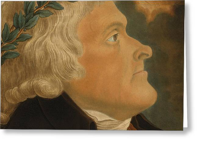 Statesman Greeting Cards - Thomas Jefferson Greeting Card by Michael Sokolnicki
