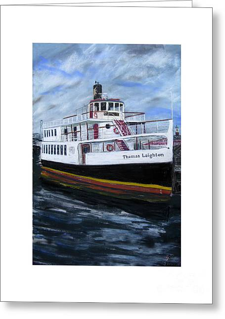 Thomas Pastels Greeting Cards - Thomas Laighton Greeting Card by Francois Lamothe