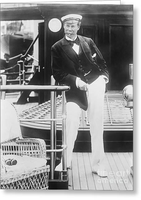 Thomas Lipton, Scottish Yachtsman Greeting Card by Library Of Congress