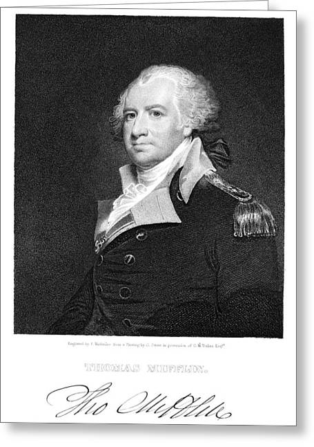 Autograph Greeting Cards - Thomas Mifflin (1744-1800) Greeting Card by Granger