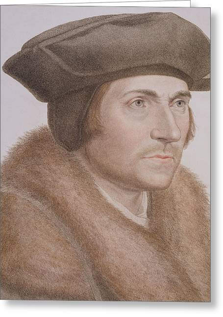 Martyr Drawings Greeting Cards - Thomas More Greeting Card by Hans Holbein the Younger