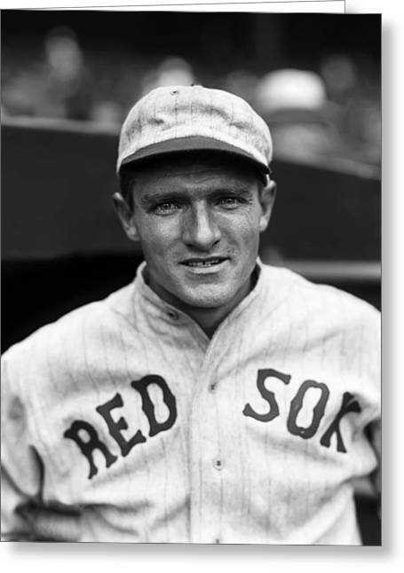 Boston Red Sox Greeting Cards - Thomas N. Tom Oliver Greeting Card by Retro Images Archive