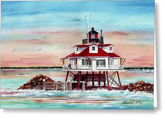 Greeting Cards - Thomas Point Lighthouse Greeting Card by Bette Orr