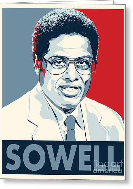 Libertarian Party Greeting Cards - Thomas Sowell Greeting Card by John Lehman