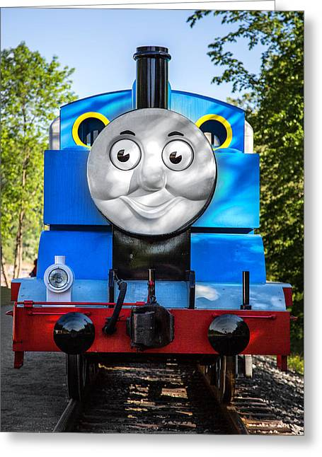 Storybook Greeting Cards - Thomas The Train Greeting Card by Dale Kincaid